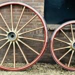 Houten rijtuig wielen-Statsiekoets-Wagenmakerij-Verweij
