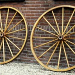 Houten wielen-Räder Brancard-Wagenmakerij-Verweij