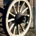 Houtenwagenwiel-Steenoven wagen-Wagenmakerij-Verweij