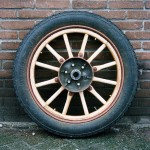 Project-antieke auto's-Clement Bayard-houten wiel 1-wagenmakerij-Verweij