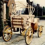 Rijtuig-Jachtwagen met kap-achterzijde-Wagenmakerij-Verweij